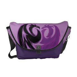 Rickshaw Medium Zero Messenger Bag with Mal Dragon Heart Logo design