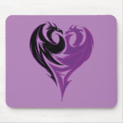 Mousepad with Mal Dragon Heart Logo design