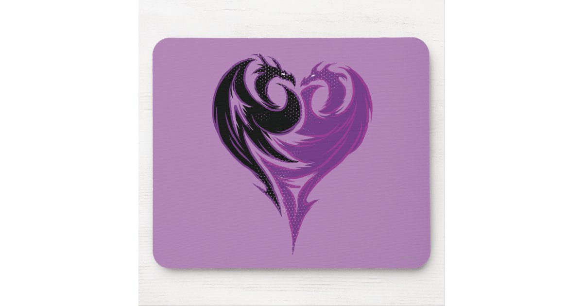 Mal Dragon Heart Mouse Pad Zazzle Com