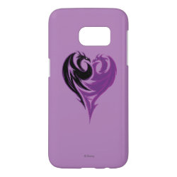 Case-Mate Barely There Samsung Galaxy S7 Case with Mal Dragon Heart Logo design