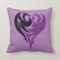 Mal Dragon Heart Logo Cotton Throw Pillow