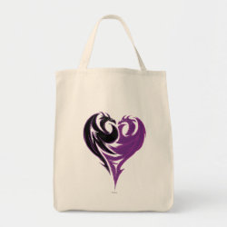 Grocery Tote with Mal Dragon Heart Logo design