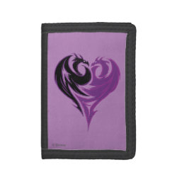 TriFold Nylon Wallet with Mal Dragon Heart Logo design