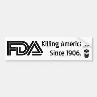 Mal FDA (blanco) Pegatina Para Auto