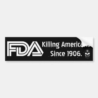 Mal FDA (negro) Pegatina Para Auto