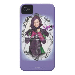 Case-Mate iPhone 4 Barely There Universal Case with Descendants Mal: Misunderstood design