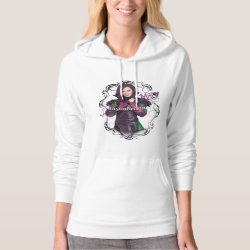Women's American Apparel California Fleece Pullover Hoodie with Descendants Mal: Misunderstood design