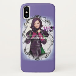 Case-Mate Barely There iPhone X Case with Descendants Mal: Misunderstood design