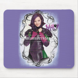 Mousepad with Descendants Mal: Misunderstood design