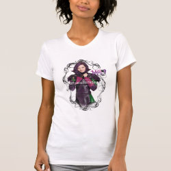 Women's American Apparel Fine Jersey Short Sleeve T-Shirt with Descendants Mal: Misunderstood design