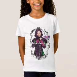 Girls' Fine Jersey T-Shirt with Descendants Mal: Misunderstood design