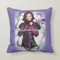 Cotton Throw Pillow with Descendants Mal: Misunderstood design