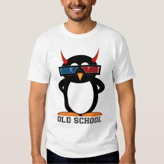 Mal Penguin™ de la escuela vieja 3D Playera