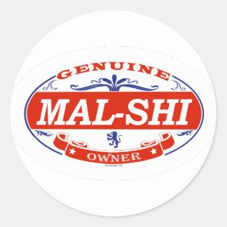 Mal-Shi Etiquetas Redondas
