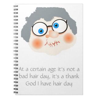 Mala abuelita del día del pelo notebook