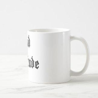 Mala actitud taza de café