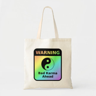 Mala advertencia de las karmas bolsa tela barata