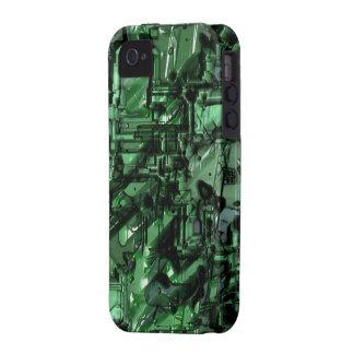 Mala caja de la casamata del robot 2 Case-Mate iPhone 4 carcasa