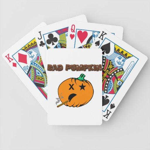 Mala calabaza baraja de cartas