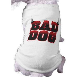Mala camisa del mascota del perro playera sin mangas para perro