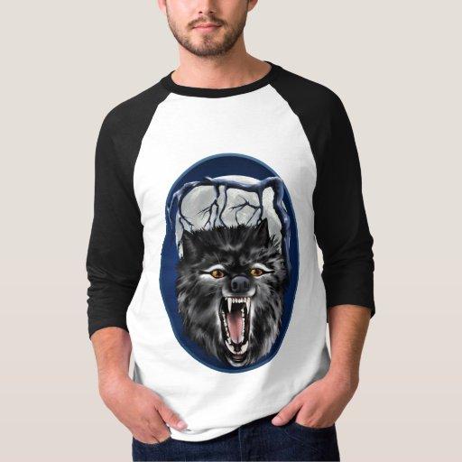 Mala camisa grande del óvalo del lobo