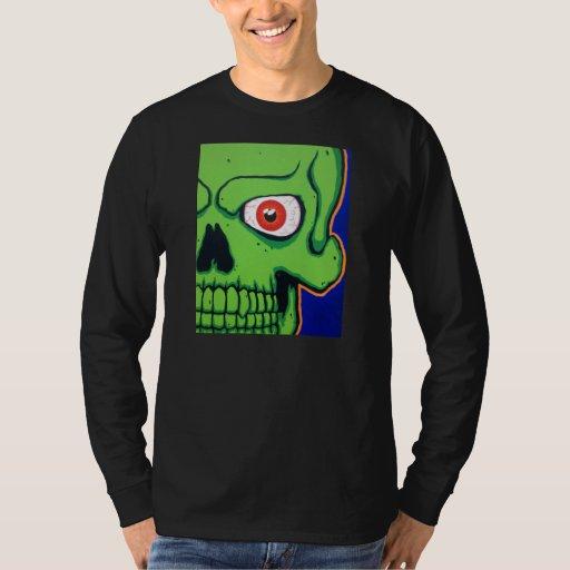 Mala camisa verde del cráneo de @$$