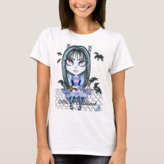 Mala camiseta del arte de la fantasía del chica de