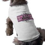 Mala camiseta del mascota del perro - estilo púrpu camisas de perritos