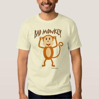 Mala camiseta del mono remera