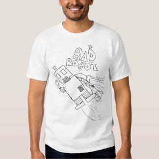 mala camiseta del robot playera