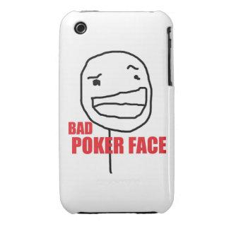 Mala cara de póker iPhone 3 protectores
