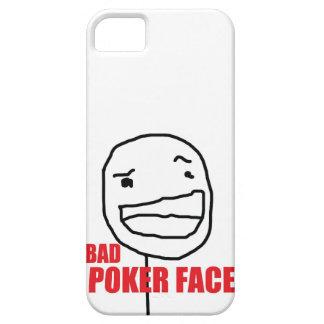 Mala cara de póker iPhone 5 carcasa