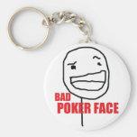 Mala cara de póker llavero