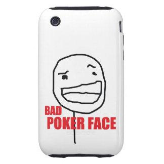 Mala cara de póker tough iPhone 3 carcasas