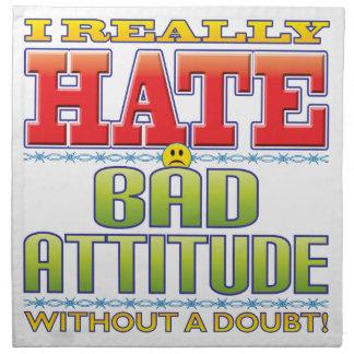 Mala cara del odio de la actitud servilletas de papel