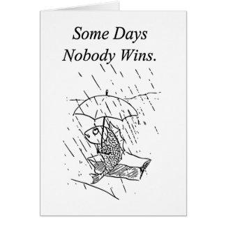 Mala condolencia del día de los pescados tristes tarjeta de felicitación