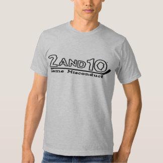 mala conducta del juego 2and10 camisas