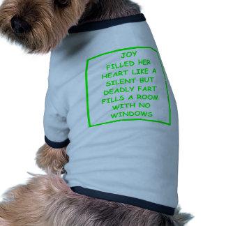 mala escritura camiseta de mascota