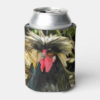 Mala foto del pollo del pelo enfriador de latas