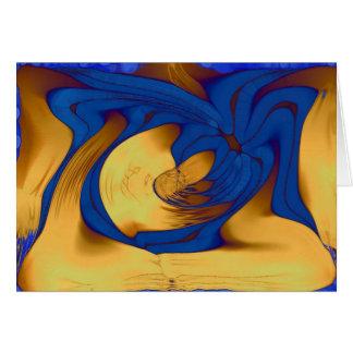 Mala hierba azul del mar felicitaciones