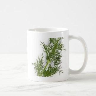Mala hierba de eneldo tazas de café