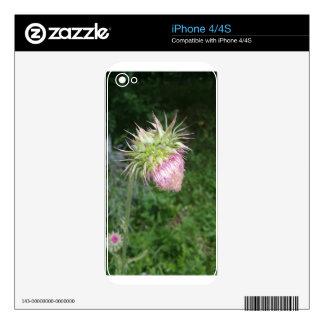 Mala hierba de la fresa calcomanías para iPhone 4S