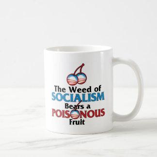 Mala hierba de Socialistm Taza De Café