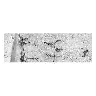 Mala hierba en tarjeta de visita de los pasos conc