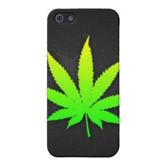 Mala hierba negra de la máscara del iphone iPhone 5 cárcasa