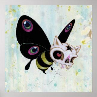 Mala impresión de la abeja póster