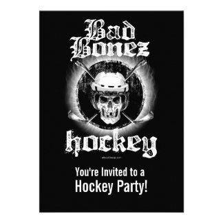 Mala invitación del fiesta del hockey de Bonez