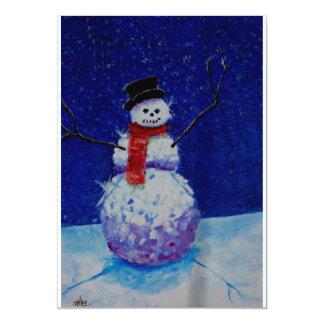 Mala invitación del muñeco de nieve