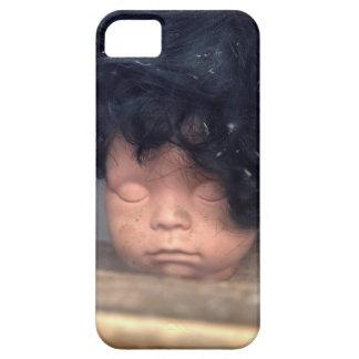 Mala muñeca del vintage del día del pelo en iPhone 5 fundas