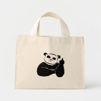 Mala panda bolsa de tela pequeña